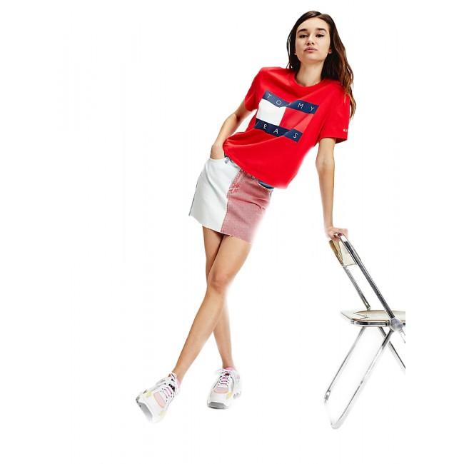 Γυναικεία  ΡΟΥΧΑ T-shirt Tommy Hilfiger Deep Crimson