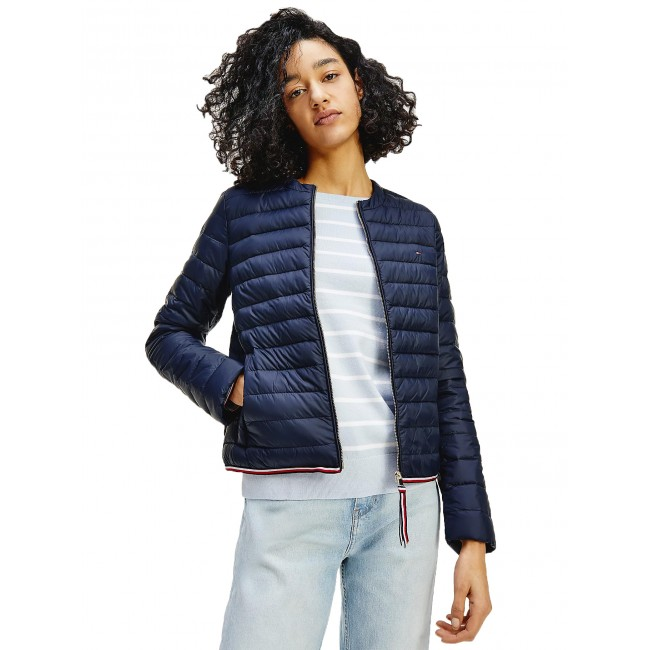 Essential Collarless Down-Filled Jacket