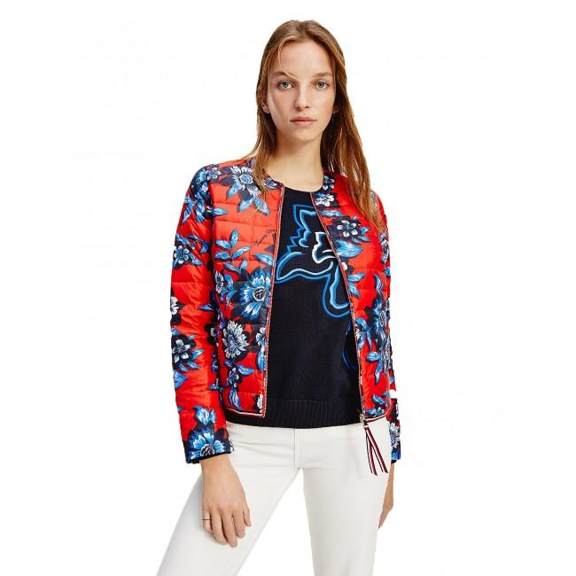 Down Filled Floral Print Jacket
