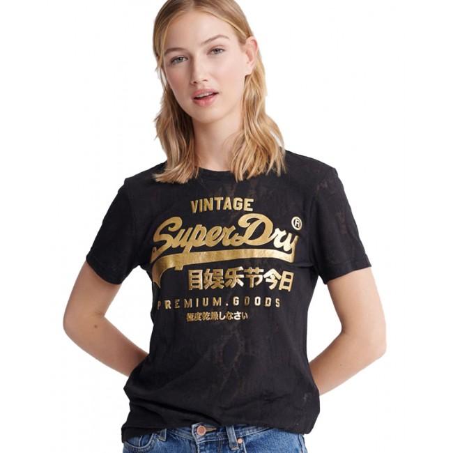 Γυναικεία  ΡΟΥΧΑ T-shirt SuperDry Black