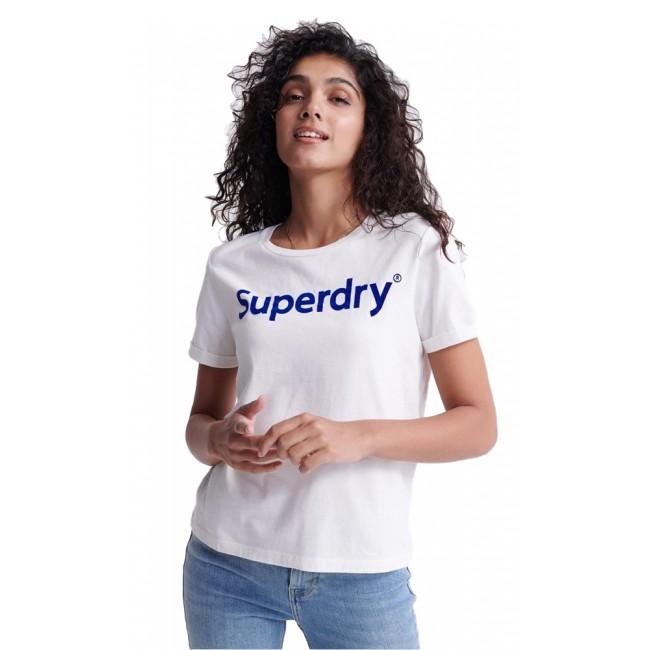 Γυναικεία  ΡΟΥΧΑ T-shirt SuperDry Chalk White