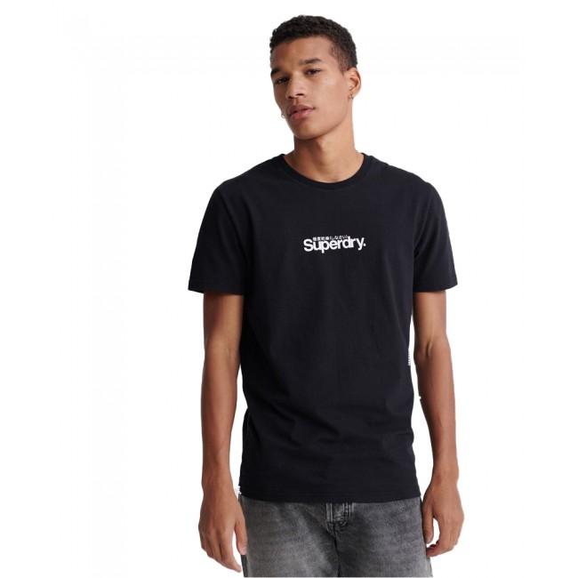 Ανδρικά  ΡΟΥΧΑ T-shirt SuperDry Black