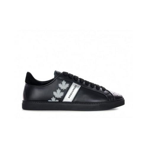 ΑΝΔΡΙΚΑ ΠΑΠΟΥΤΣΙΑ Sneakers Dsquared2 M043 ΜΑΥΡΟ 100%ΔΕΡΜΑ 077a8575c6c