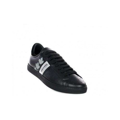 ΑΝΔΡΙΚΑ ΠΑΠΟΥΤΣΙΑ Sneakers Dsquared2 M043 ΜΑΥΡΟ 100%ΔΕΡΜΑ 29d753b6200