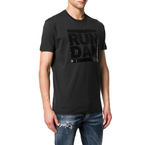 9414a6b6dc2f -30% ΑΝΔΡΙΚΑ ΡΟΥΧΑ T-shirt Dsquared2 964 ΜΑΥΡΟ 100%ΒΑΜΒΑΚΙ ΑΝΔΡΙΚΑ