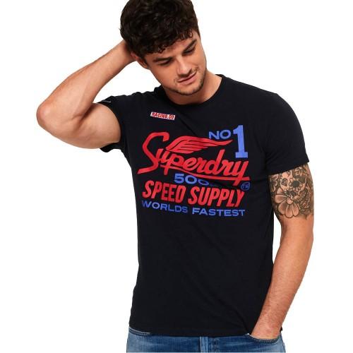 bbd65871c38b ΑΝΔΡΙΚΑ ΡΟΥΧΑ T-shirt SuperDry ECLIPSE NAVY   ΜΠΛΕ