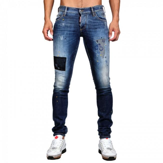 Ανδρικά ΡΟΥΧΑ Jeans Dsquared2 DENIM / ΜΠΛΕ