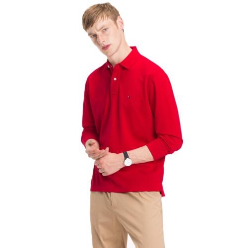 ec86c36cd142 -30% ΑΝΔΡΙΚΑ ΡΟΥΧΑ Πόλο Μπλούζες Tommy Hilfiger RED 100%COTTON Σαιζόν