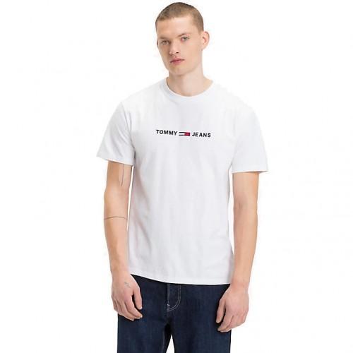 ΑΝΔΡΙΚΑ ΡΟΥΧΑ T-shirt Tommy Hilfiger 100 ΑΣΠΡΟ ΒΑΜΒΑΚΙ 100 3492ed333bd