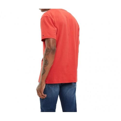 ... Ανδρικό Μπλουζάκι T-shirt σε κόκκινο χρώμα. 100% Βαμβάκι της Tommy Jeans 86af574a4b0