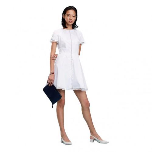 4cd1319d6199 ΓΥΝΑΙΚΕΙΑ ΡΟΥΧΑ Φορέματα Tommy Hilfiger CLASSIC WHITE