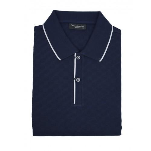 b4b722932d83 ΑΝΔΡΙΚΑ ΡΟΥΧΑ Πόλο Μπλούζες Guy Laroche 2 DARK BLUE 100% COTTON