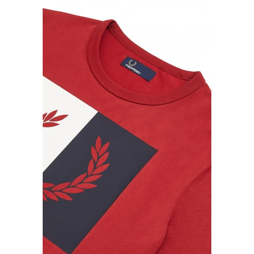 ΑΝΔΡΙΚΑ ΡΟΥΧΑ T-shirt     Fred Perry RICH RED