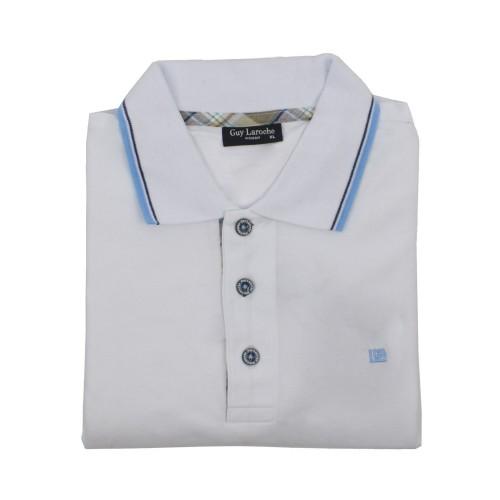 ΑΝΔΡΙΚΑ ΡΟΥΧΑ Πόλο Μπλούζες     Guy Laroche 16-White 100% Cotton