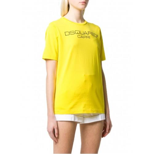 ΓΥΝΑΙΚΕΙΑ ΡΟΥΧΑ T-shirt     Dsquared2 Yellow