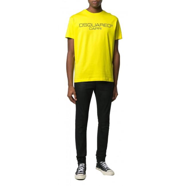 Ανδρικά  ΡΟΥΧΑ T-shirt Dsquared2 Yellow