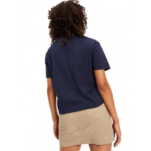 ΓΥΝΑΙΚΕΙΑ ΡΟΥΧΑ T-shirt     Tommy Hilfiger Blue ΝΕΕΣ ΠΑΡΑΛΑΒΕΣ DW0DW07536-0FA