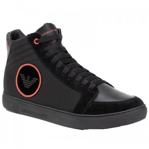 ΑΝΔΡΙΚΑ ΠΑΠΟΥΤΣΙΑ Sneakers     Armani Black Sneakers X4Z081-XM036-B059